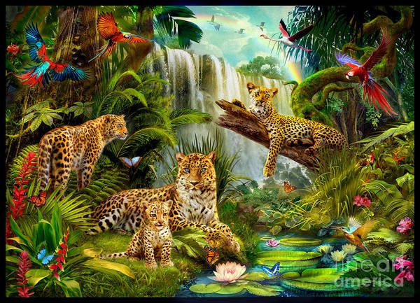 Parrot Digital Art - Leopards by MGL Meiklejohn Graphics Licensing