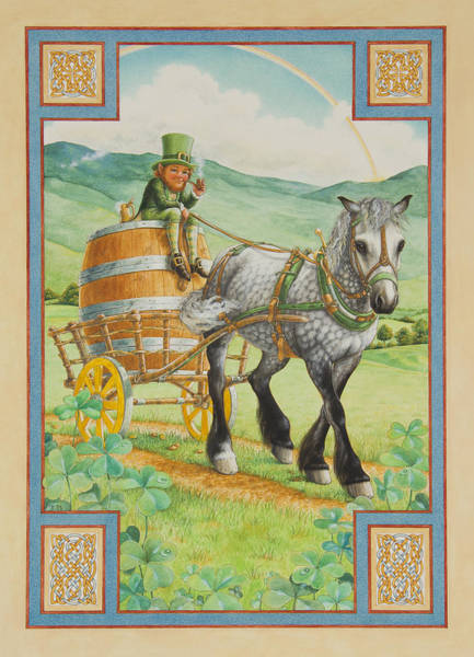St Patricks Painting - Leprechaun by Lynn Bywaters