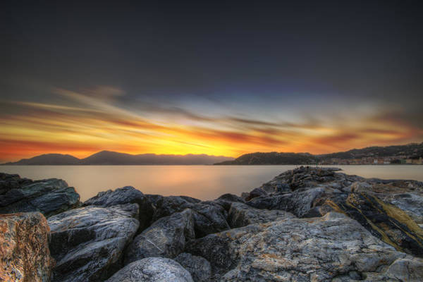 Tramonto Photograph - Lerici In A Fire Sky by Tommaso Di Donato