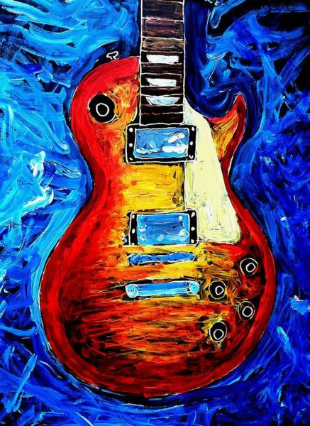 Painting - Les Paul  by Neal Barbosa
