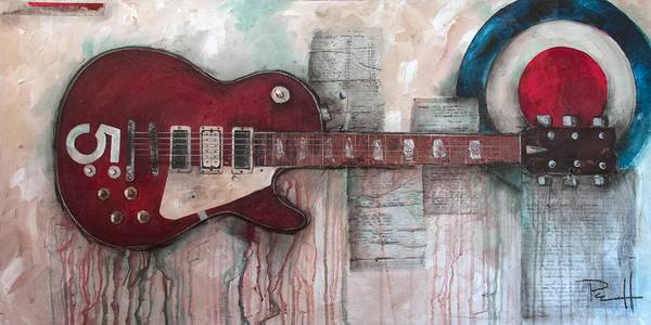 Painting - Les Paul Number 5 by Sean Parnell