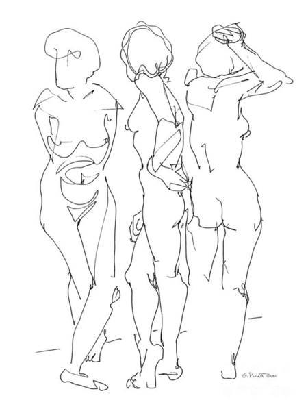 Drawing - Lesbian Drawings 2 by Gordon Punt