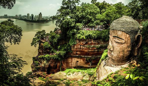 Giant Buddha Photograph - Leshan Giant Buddha by Tim Martin