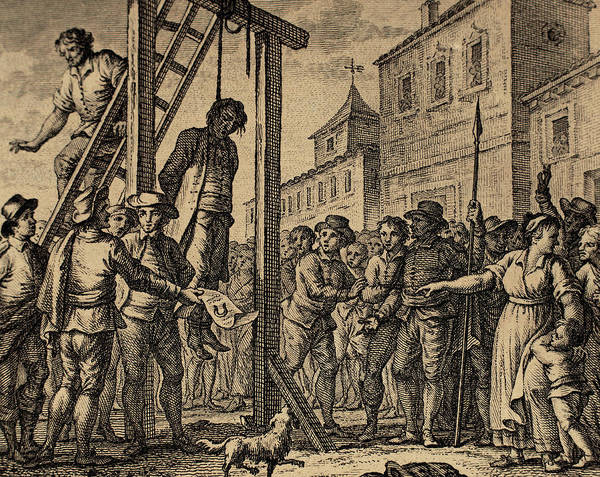 Condemned Wall Art - Drawing - Lesser Antilles, Grenada, Governor Hanged by Bridgeman Images