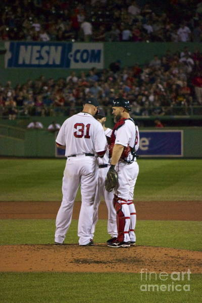 Photograph - Lester Ross And Pedroia by Amazing Jules