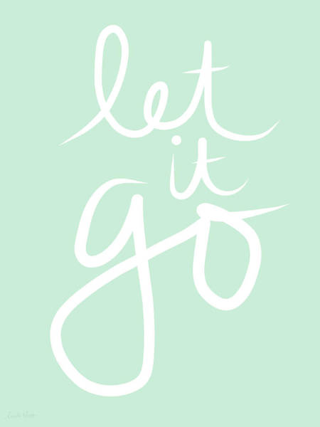 Yoga Wall Art - Mixed Media - Let It Go by Linda Woods