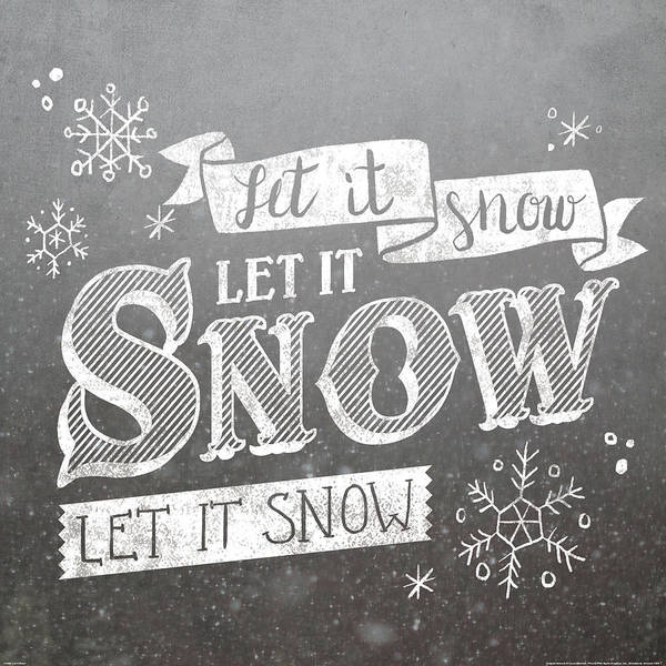 White Christmas Painting - Let It Snow by Laura Marshall