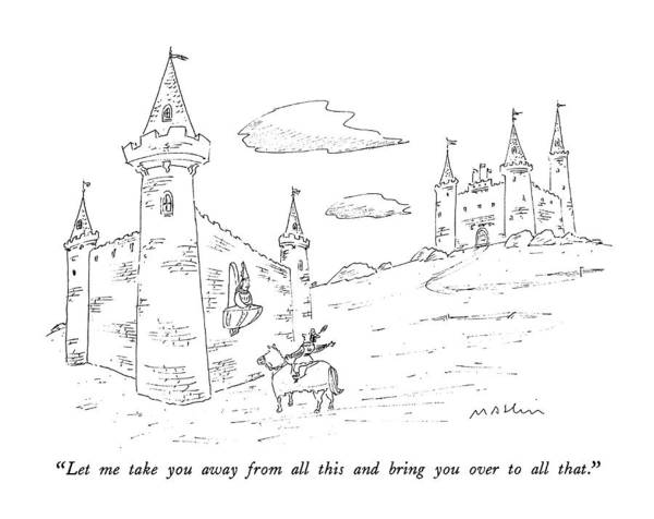 Horseback Drawing - Let Me Take You Away From All This And Bring by Michael Maslin