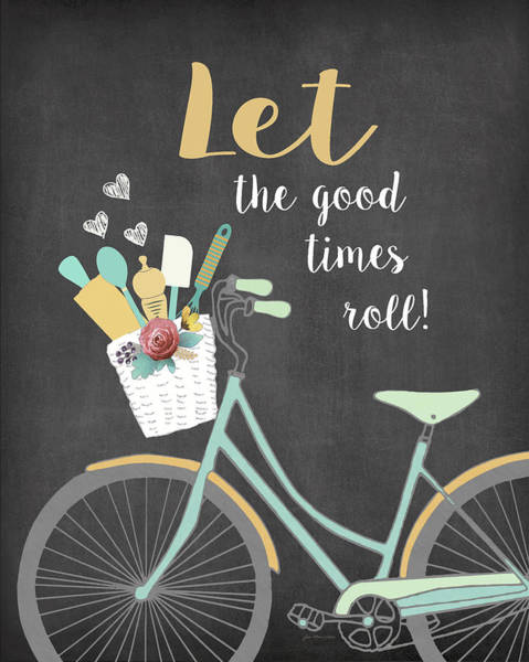 Flowers Bike Wall Art - Painting - Let The Good Times Roll by Jo Moulton