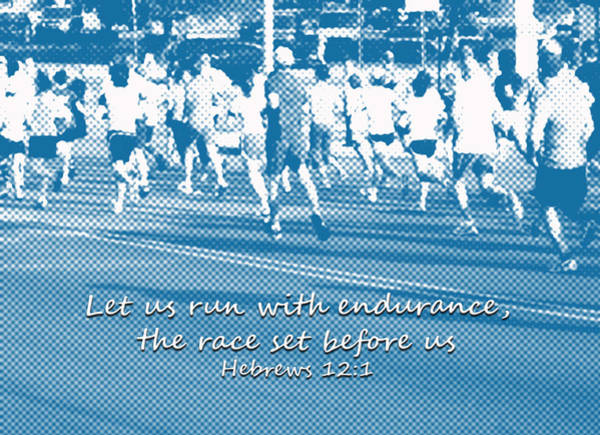 Photograph - Let Us Run The Race Hebrews by Denise Beverly