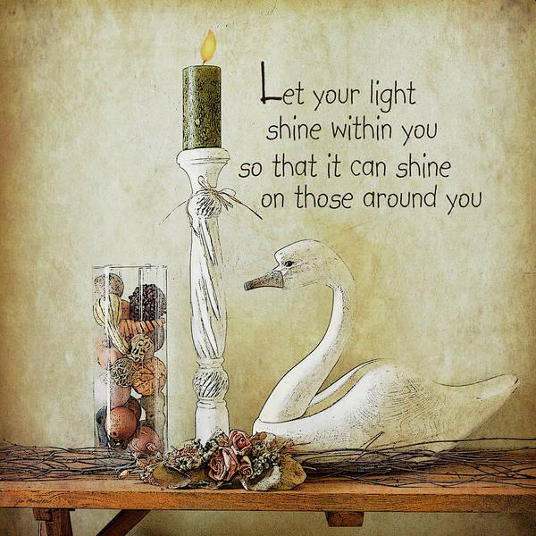 Family Farm Painting - Let Your Light Shine by Jo Moulton