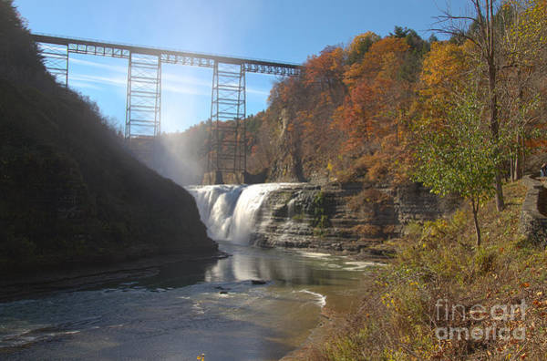 Photograph - Letchworth High Falls by William Norton