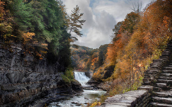 Trestle Photograph - Letchworth Lower Falls by Peter Chilelli