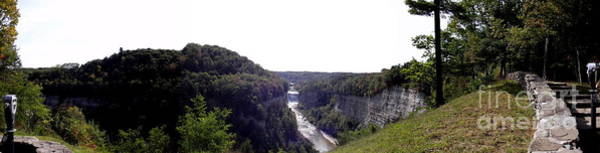 Photograph - Letchworth Middle And Upper Falls Panorama by Rose Santuci-Sofranko
