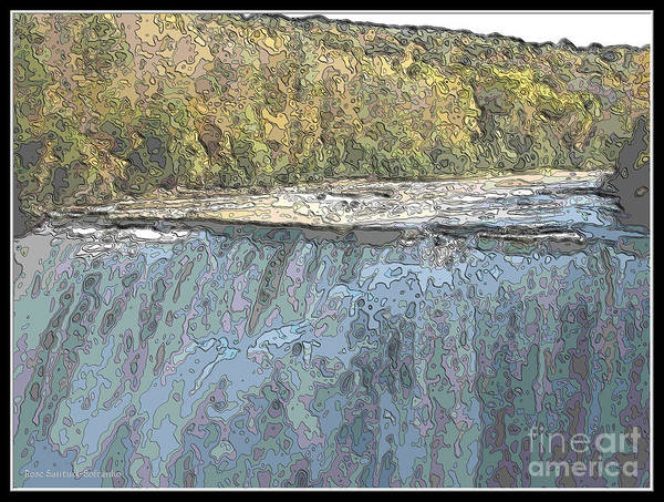 Photograph - Letchworth Middle Falls Contour Effect by Rose Santuci-Sofranko