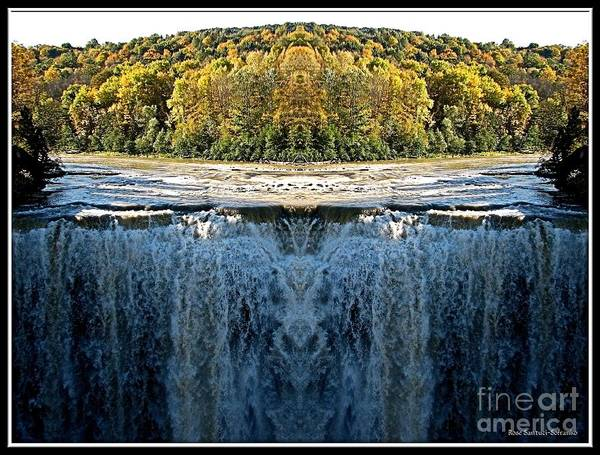 Photograph - Letchworth Middle Falls Mirrored by Rose Santuci-Sofranko