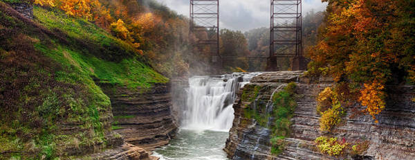 Trestle Photograph - Letchworth Upper Falls 2 by Peter Chilelli