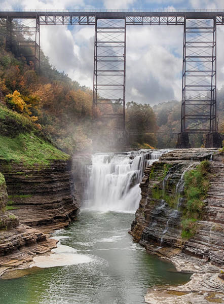 Geologic Photograph - Letchworth Upper Falls 3 by Peter Chilelli