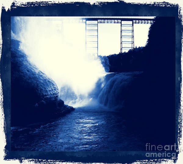 Photograph - Letchworth Upper Falls In Cyanoscope by Rose Santuci-Sofranko