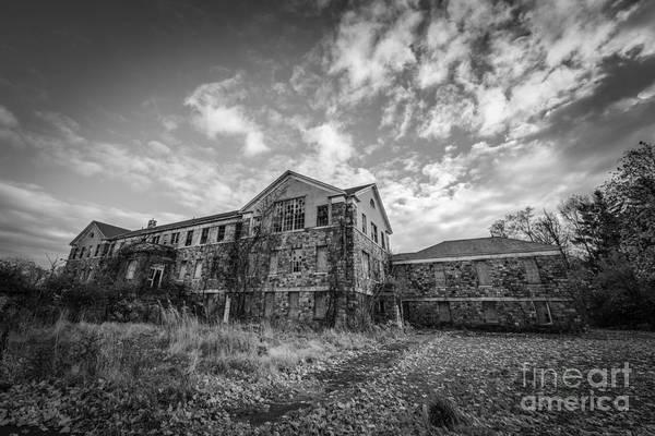 Urbex Wall Art - Photograph - Letchworth Village Morgue Bw by Michael Ver Sprill
