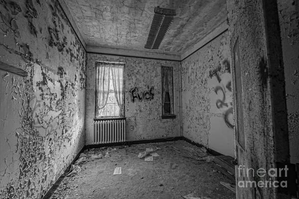 Urbex Wall Art - Photograph - Letchworth Village Room Bw by Michael Ver Sprill