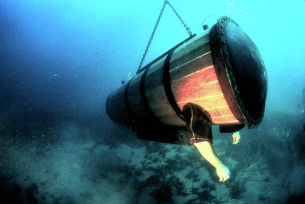Diving Bell Photograph - Lethbridge's Diving Machine by Oar/national Undersea Research Program/smithsonian Institution/noaa/science Photo Library