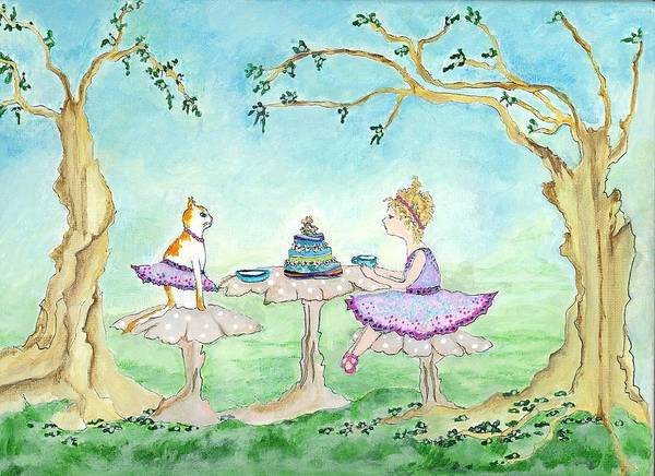 Fairy Cakes Painting - Let's Eat Cake And Dance by Natalie Singer
