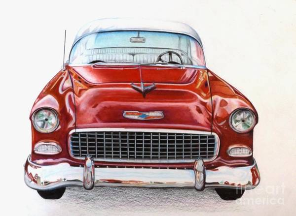 Drawing - Let's Go For A Ride by David Neace