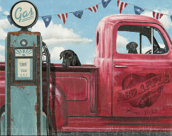 Wall Art - Painting - Lets Go For A Ride I Crop by James Wiens