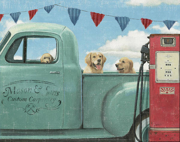 Gas Station Wall Art - Painting - Lets Go For A Ride II Crop by James Wiens