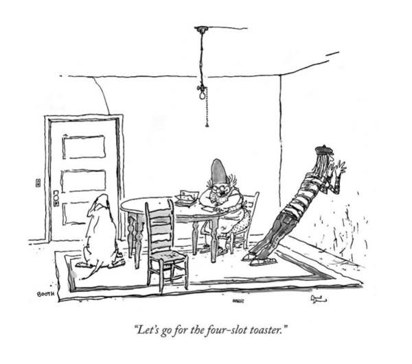 August 11th Drawing - Let's Go For The Four-slot Toaster by George Booth