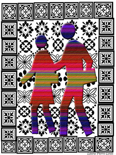 Wall Art - Digital Art - Let's Go Together by Laura Pierre-Louis