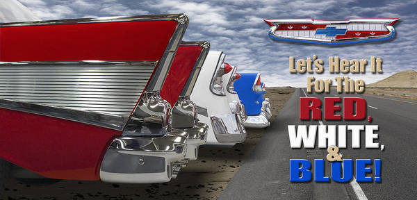 Street Rod Photograph - Lets Hear It For The Red White And Blue by Mike McGlothlen