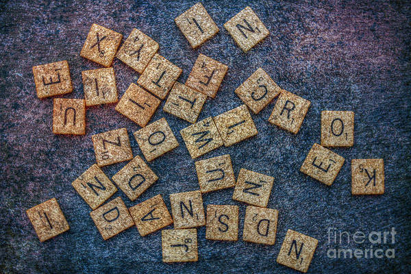 Word Play Photograph - Lets Play Scrabble by Randy Steele