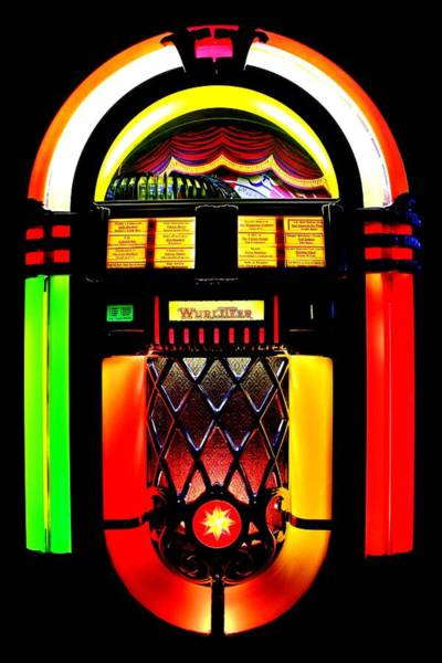 Wurlitzer Photograph - Let's Rock by Benjamin Yeager
