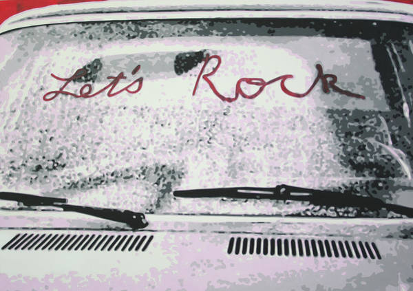 Ludzska Wall Art - Painting - Lets Rock by Ludzska