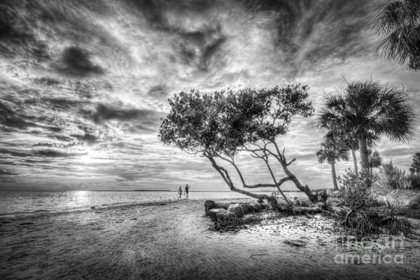 Low Tides Photograph - Let's Stay Here Forever Bw by Marvin Spates