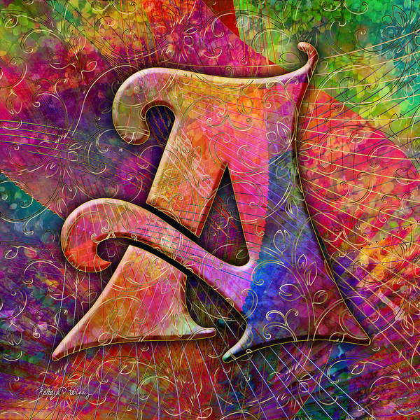 Digital Art - Letter A by Barbara Berney