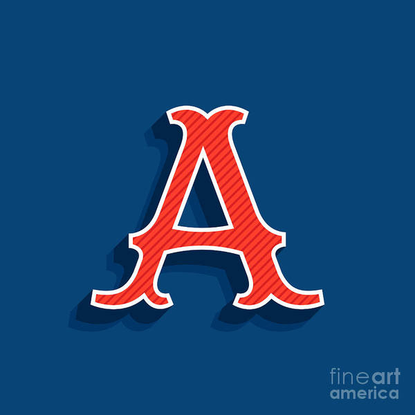 Emblem Wall Art - Digital Art - Letter A Logo In Classic Sport Team by Kaer stock