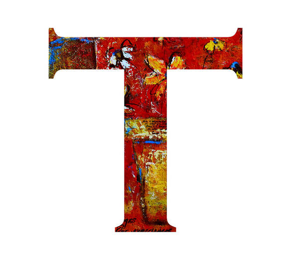 Painting - Alphabet Letter T  by Patricia Awapara