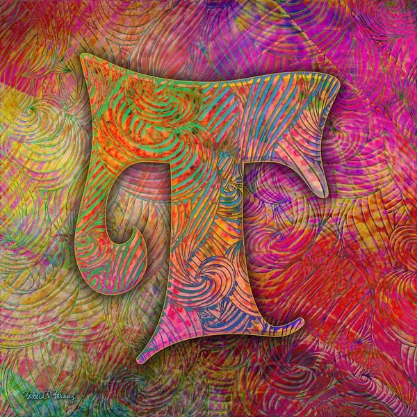 Digital Art - Letter T by Barbara Berney