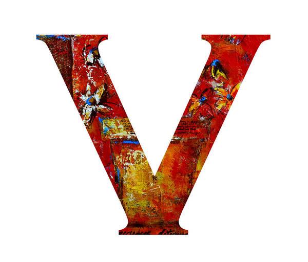 Painting - Alphabet Letter V  by Patricia Awapara