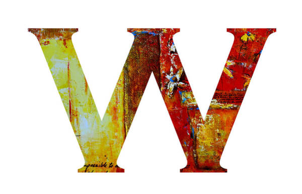 Painting - Alphabet Letter W  by Patricia Awapara