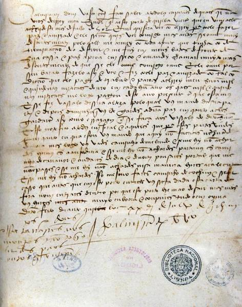 Handwriting Photograph - Letter Written By Vasco Da Gama by Patrick Landmann/science Photo Library