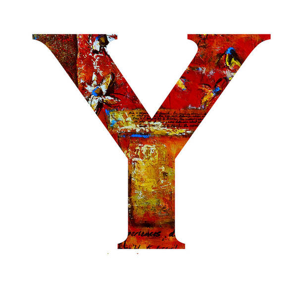 Painting - Alphabet Letter Y by Patricia Awapara