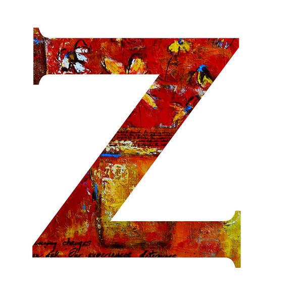 Painting - Alphabet Letter Z  by Patricia Awapara