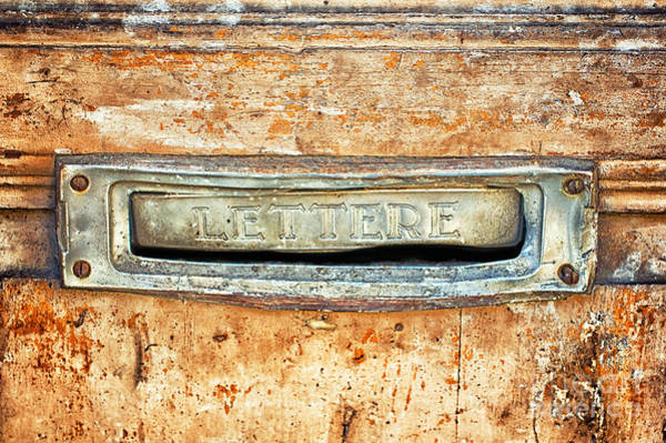 Wall Art - Photograph - Lettere Letters by Silvia Ganora
