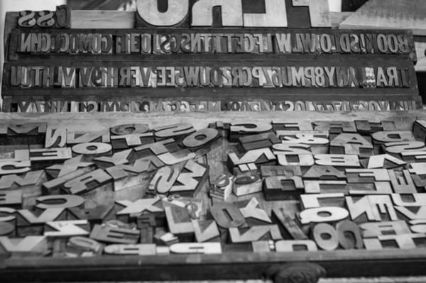 Photograph - Letters by Chris Bordeleau