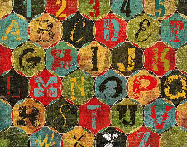 Novelties Painting - Letters by Marilu Windvand