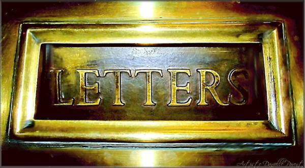Letters Trough The Door Art Print